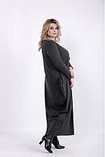 Серое скрывающее платье больших размеров, фото 2