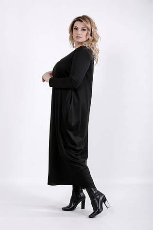 Черное длинное платье больших размеров, фото 2
