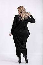 Черное длинное платье больших размеров, фото 3