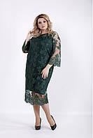 Зеленое вечернее платье больших размеров