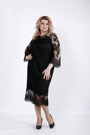 Шикарное черное вечернее платье для полных, фото 2