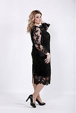 Шикарное черное вечернее платье для полных, фото 3