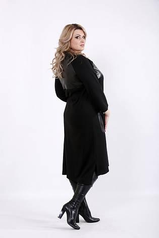 Чорне плаття трикотажне велике, фото 2