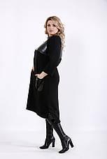 Чорне плаття трикотажне велике, фото 3