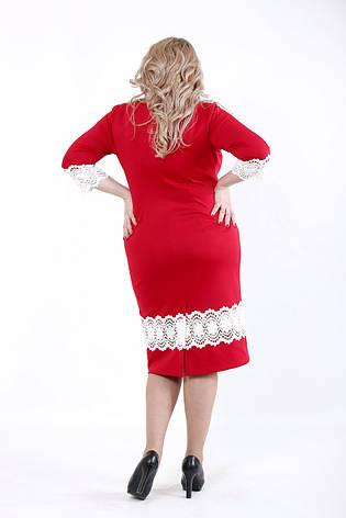 Красное платье большого размера, фото 2