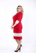 Красное платье большого размера, фото 3