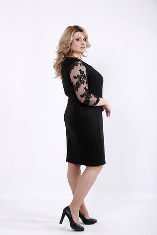 Элегантное черное платье для полных женщин, фото 2