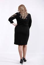 Элегантное черное платье для полных женщин, фото 3