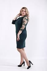Зеленое элегантное платье больших размеров, фото 2