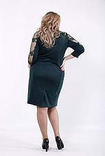 Зеленое элегантное платье больших размеров, фото 3