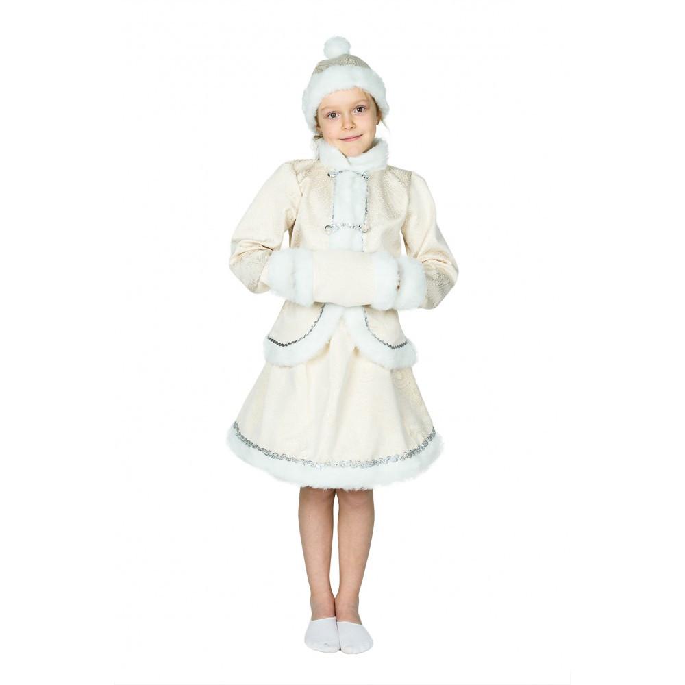 Карнавальный костюм Снегурочки для девочки.