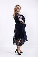 Синее вечернее платье для полных женщин, фото 2