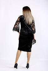 Черное платье из велюра для полных, фото 3