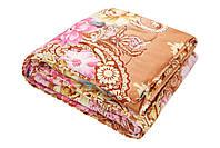 Одеяло Уют ватин полушерстяной 180х215 см коричневое (212972), фото 1