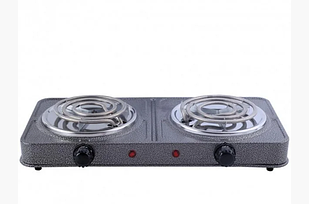 Електроплита Спіральна GRUNHELM GHP-5813 2,0кВт, подвійна, вузький тен