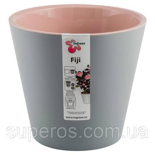 Горшок для цветов Фиджи D 160 мм/1,6 л пепельный