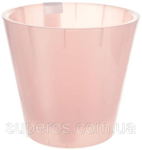 Горшок для цветов Фиджи Орхид D 200 мм / 4 л розовый перламутровый