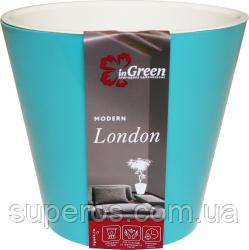 Горшок для цветов London 330 мм/16 л на колесиках Голубой жасмин
