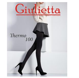 Колготи Giulietta Thermo 100 den №3 чорні.