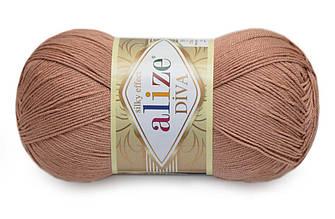 Alize Diva, Красно-коричневый №261