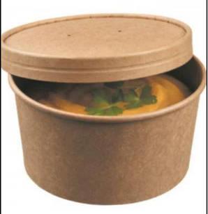 Контейнер паперовий для супу Супниця 390 мл Крафт (50шт)