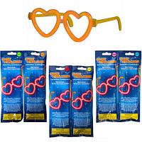 """От 6 шт. Неоновые очки """"Сердце"""" 12-41/301323 купить оптом в интернет магазине От 6 шт."""