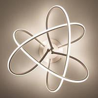 Потолочный светодиодный светильник LUMINARIA LIANA MONO 60W R490 WHITE/OPAL 220V IP20 4000K