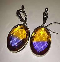 """Крупные Серебряные серьги с аметрином """"Овал 1"""" от LadyStyle.Biz, фото 1"""