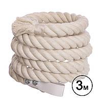 Канат гимнастический для лазания 3 м, d-3 см R-3899-3