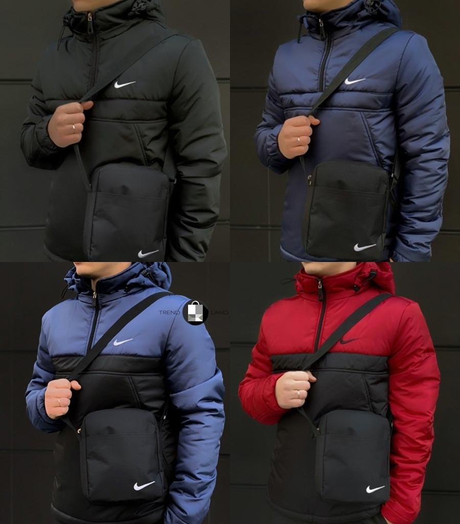 Мужской утепленный анорак/куртка в стиле Nike 5 цветов в наличии