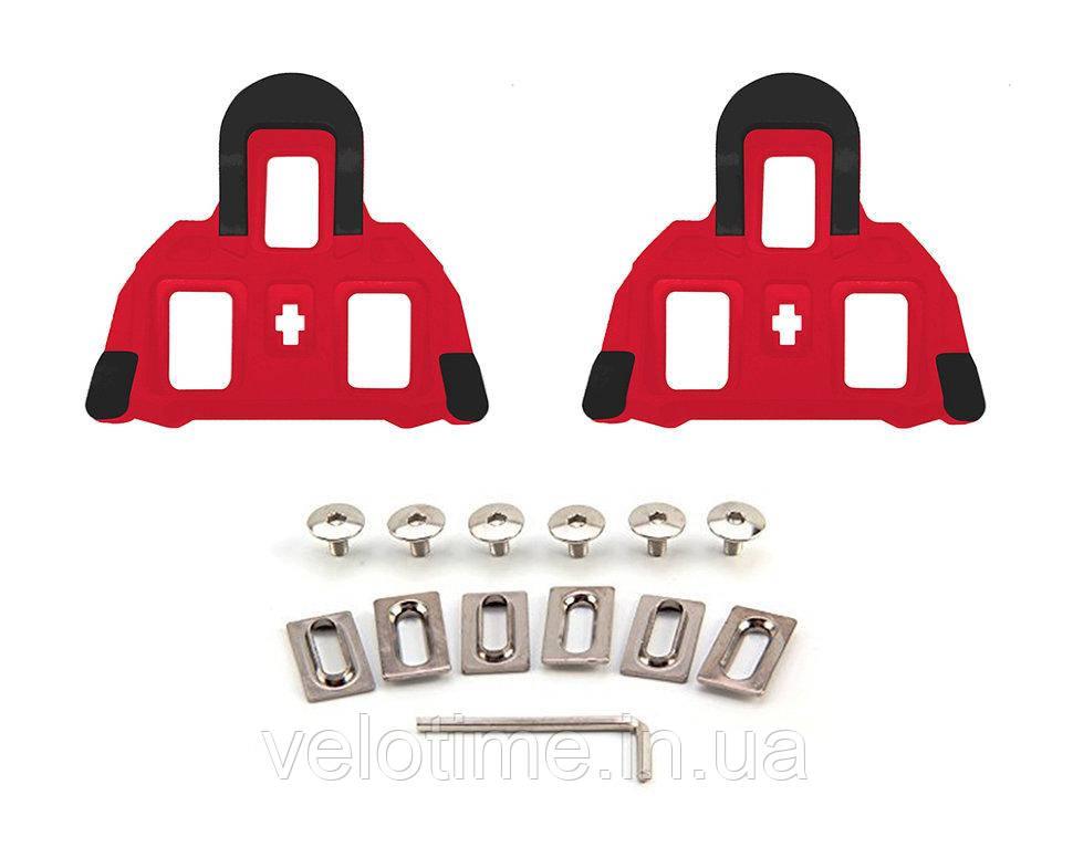 Шипы к педалям шоссе FLR R0 SPD-SL 0град (красный)