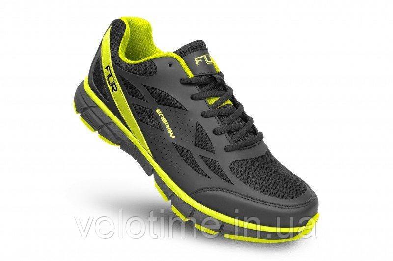 Велосипедные туфли фитнес FLR Energy  (48р.,черный-желтый)