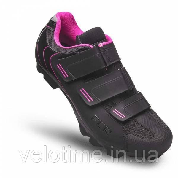 Велосипедные туфли МТБ FLR F-55  (41р., черный-розовый)