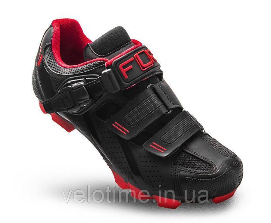 Велосипедные туфли МТБ FLR F-65  (46р.,черный-красный)
