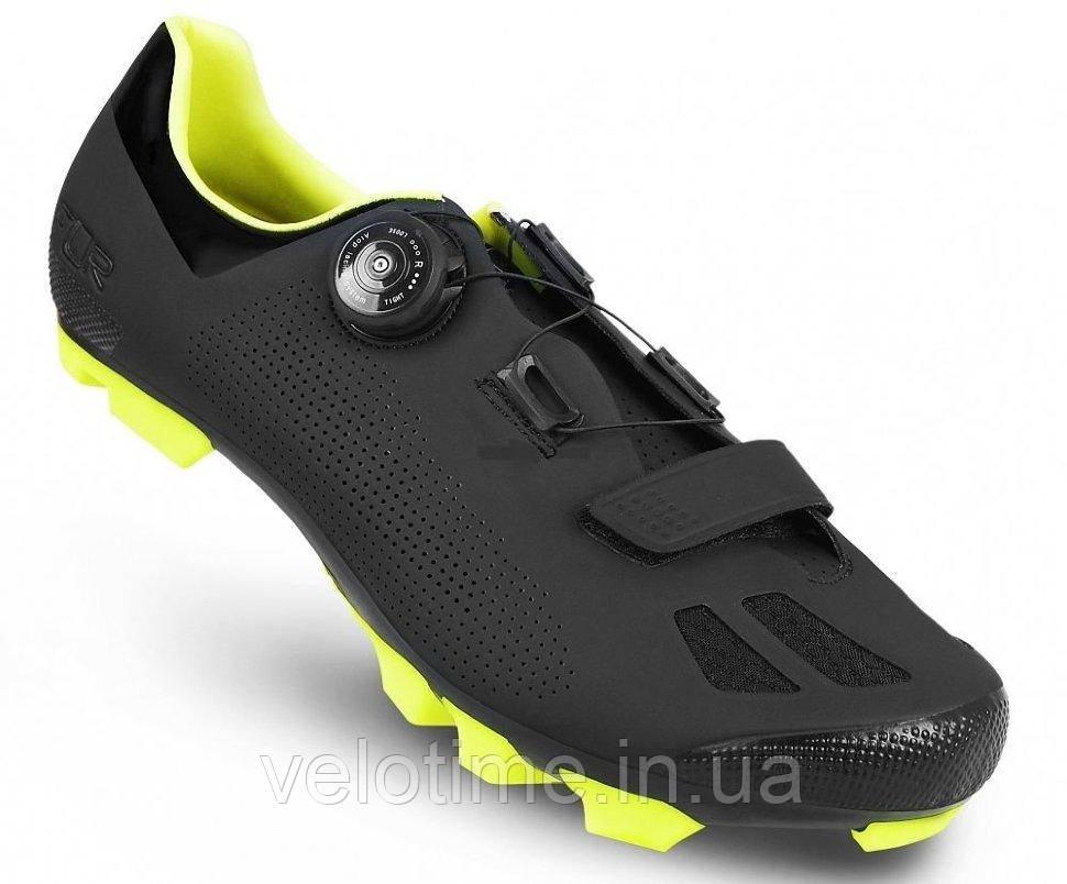 Велосипедные туфли МТБ FLR F-70  (47р., черный-желтый)