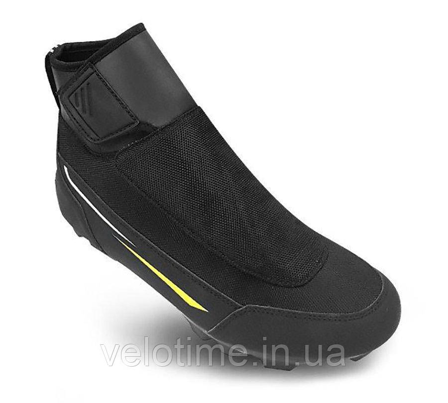 Велосипедные туфли зимние МТБ FLR Defender  (40р., черный)
