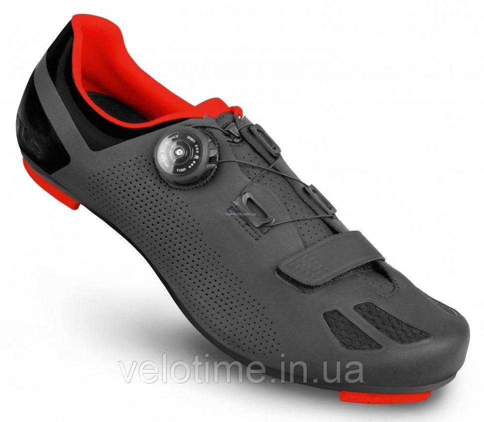 Велосипедные туфли шоссе FLR F-11 (43р., черный-красный)