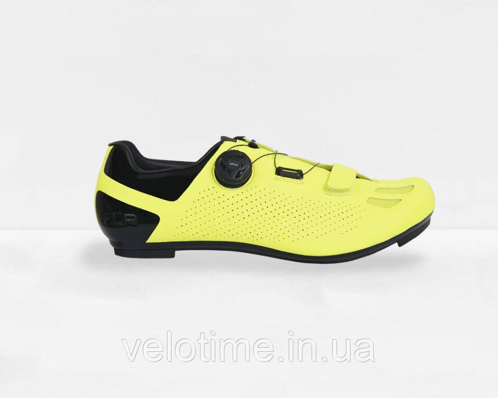 Велосипедные туфли шоссе FLR F-11 (46р., желтый)
