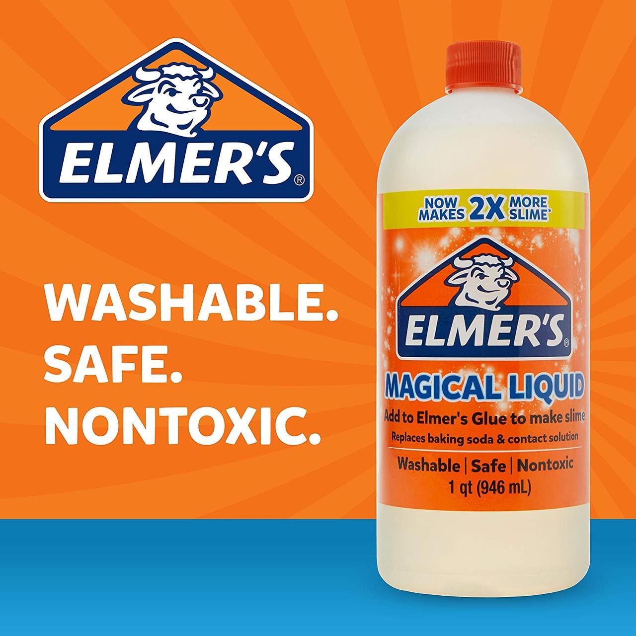 Активатор Элмерс, магическая жидкость для слаймов, 946мл. Elmer's Magical liquid. Оригинал из США