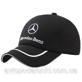 Кепка Mercedes-Benz черная, бейсболка с лотипом  авто Мереседес бенц