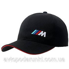 Кепка BMW M motorsport черная, бейсболка с лотипом  авто БМВ М