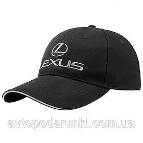 Кепка LEXUS черная, бейсболка с лотипом авто  ЛЕКСУС