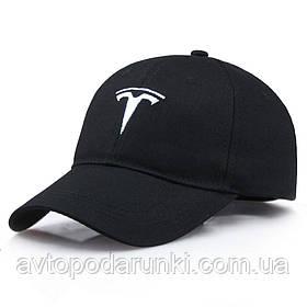 Кепка TESLA черная, бейсболка с лотипом авто  ТЕСЛА