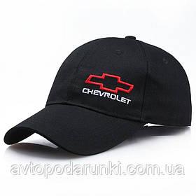 Кепка CHEVROLET черная, бейсболка с лотипом  авто ШЕВРОЛЕ