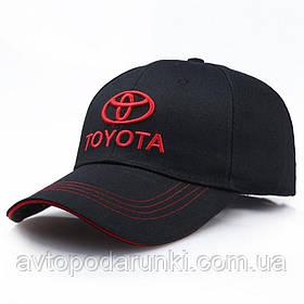 Кепка TOYOTA черная, бейсболка с лотипом авто  ТОЙОТА