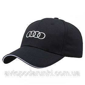 Кепка AUDI черная, бейсболка с лотипом авто  АУДИ