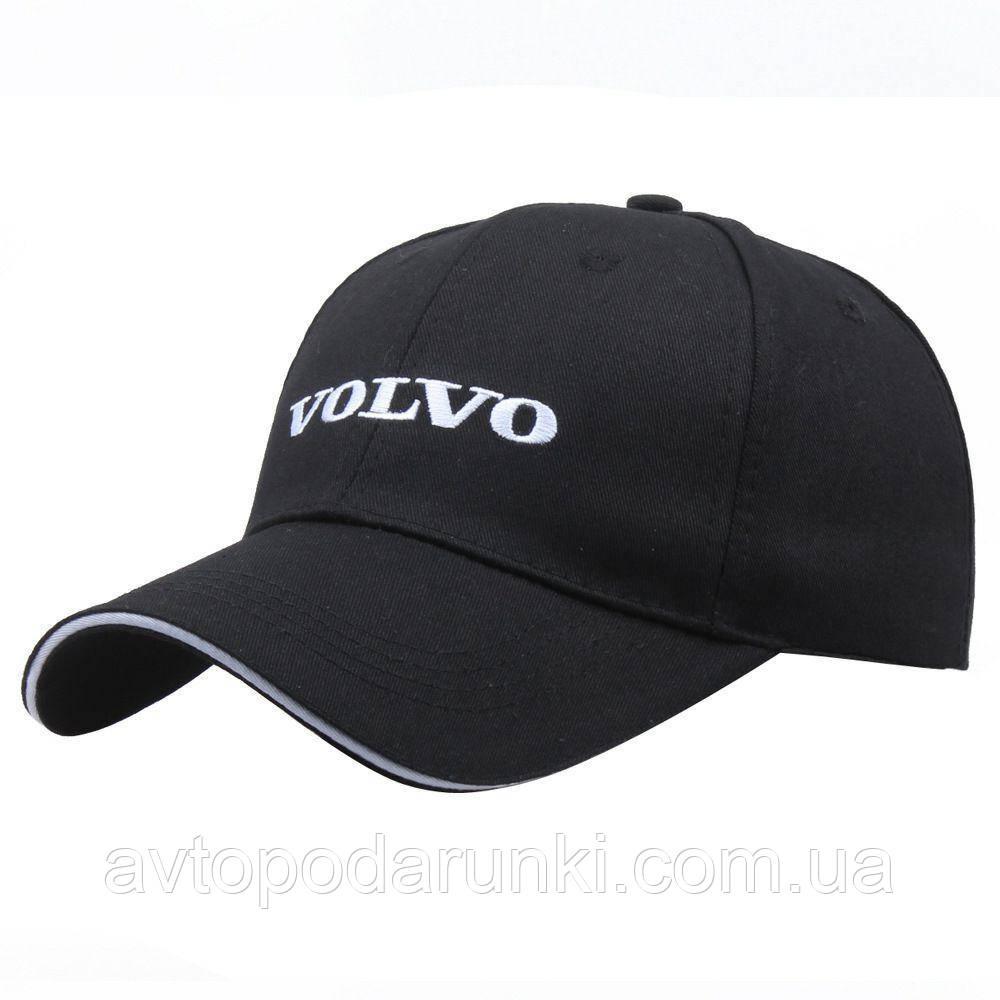 Кепка VOLVO черная, бейсболка с лотипом авто  ВОЛЬВО