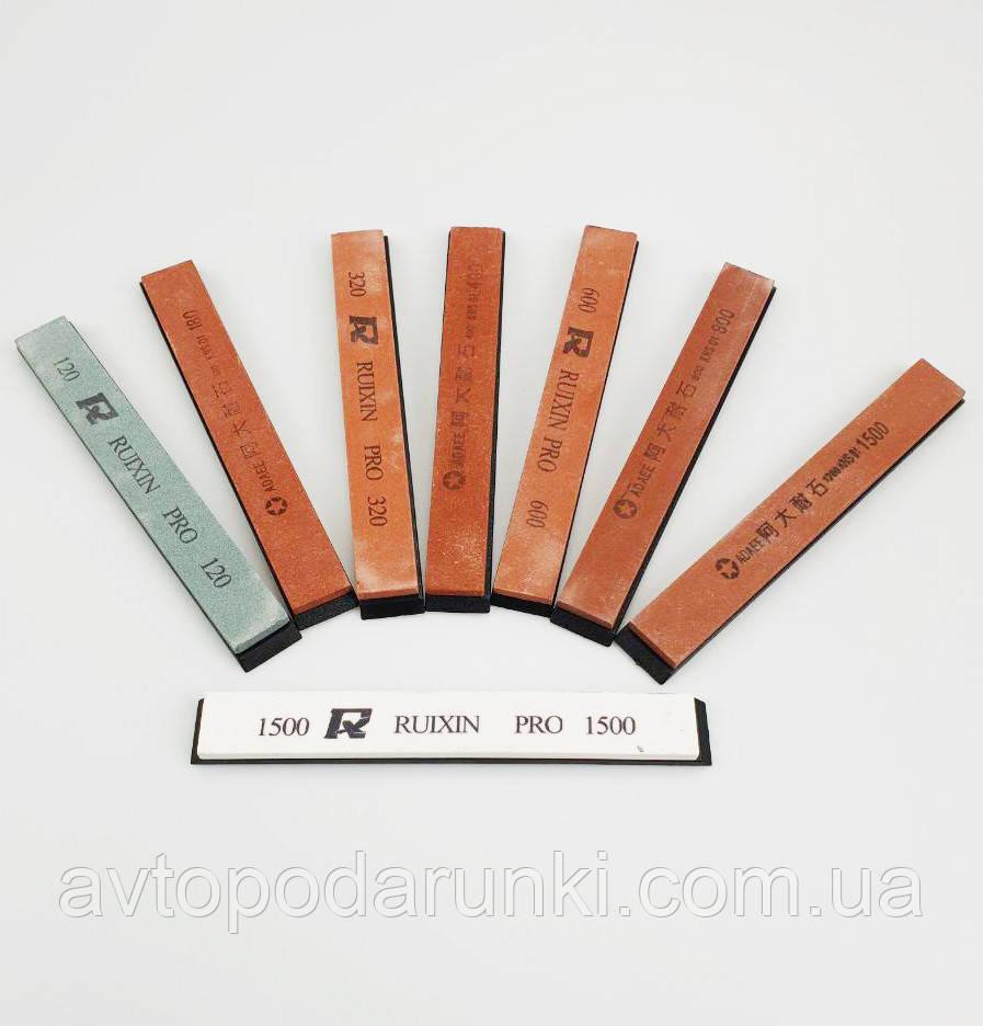Набор точильных камней для точилок RUIXIN  8шт (120, 180, 320, 400, 600, 800 и 1500х2шт)