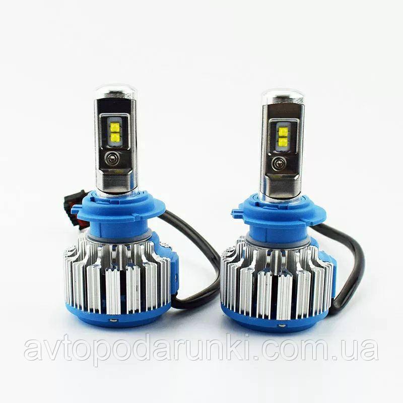 """Автомобильные LED лампы Цоколь H7 """"T1 TURBO LED""""  70Вт 7000Лм 6000К 8-48v CREE чип"""
