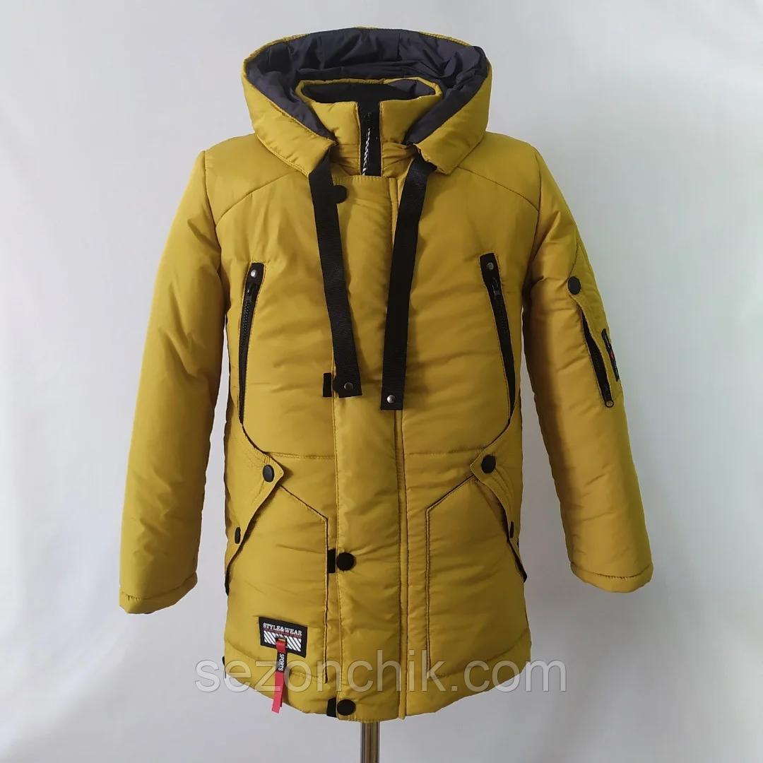 Куртка зимняя на мальчика подростка парка